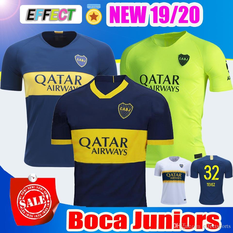 Nuevo 2019 2020 Tailandia Boca Juniors Local Tercera Verde 2018 Superliga  Argentina Soccer Jerseys 19 20 GAGO   5 CARDONA TEVEZ Camisetas De Fútbol  Por ... 02025db8ee76c