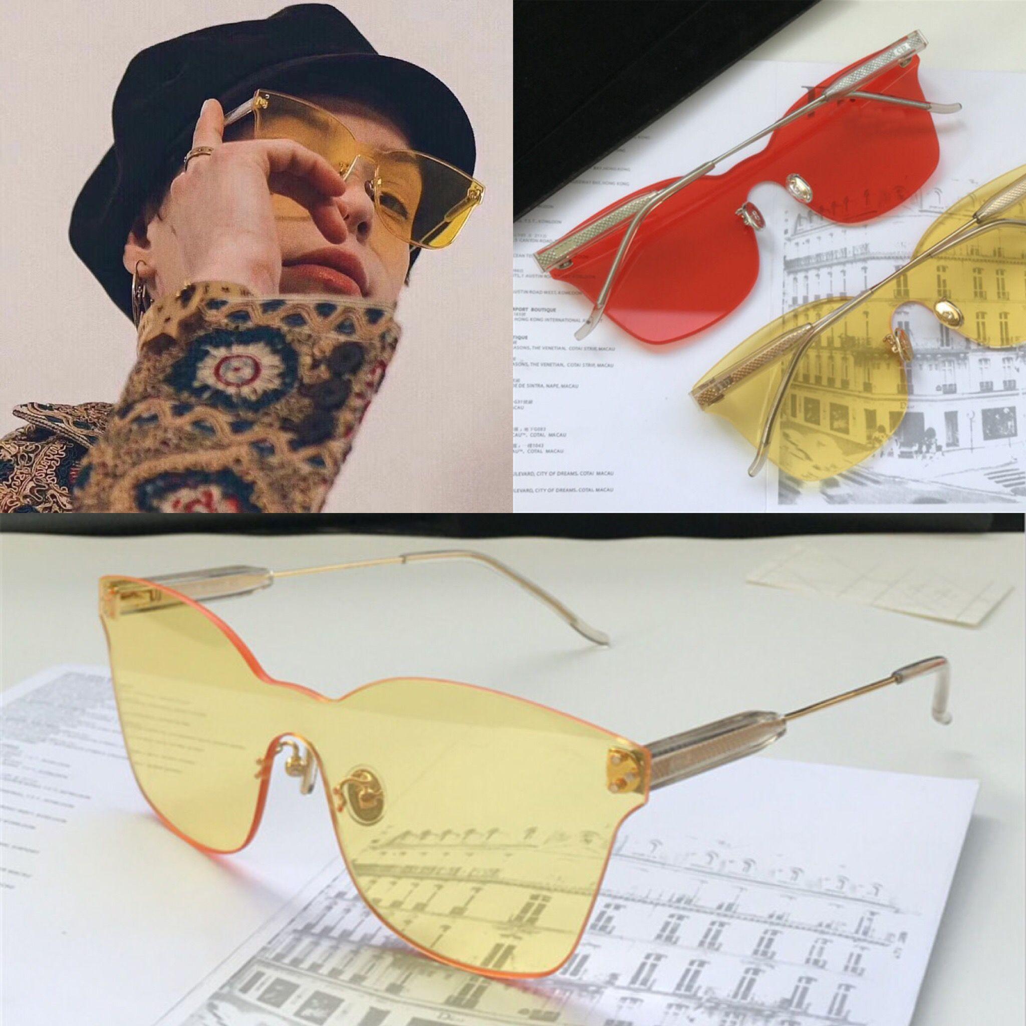 0855b8817c Compre Nuevo Diseñador De Moda Gafas De Sol ADCICT1 Ojo De Gato Sin Marco  Estilo Popular Lentes De Color Caramelo De Verano Uv400 Protección Gafas ...