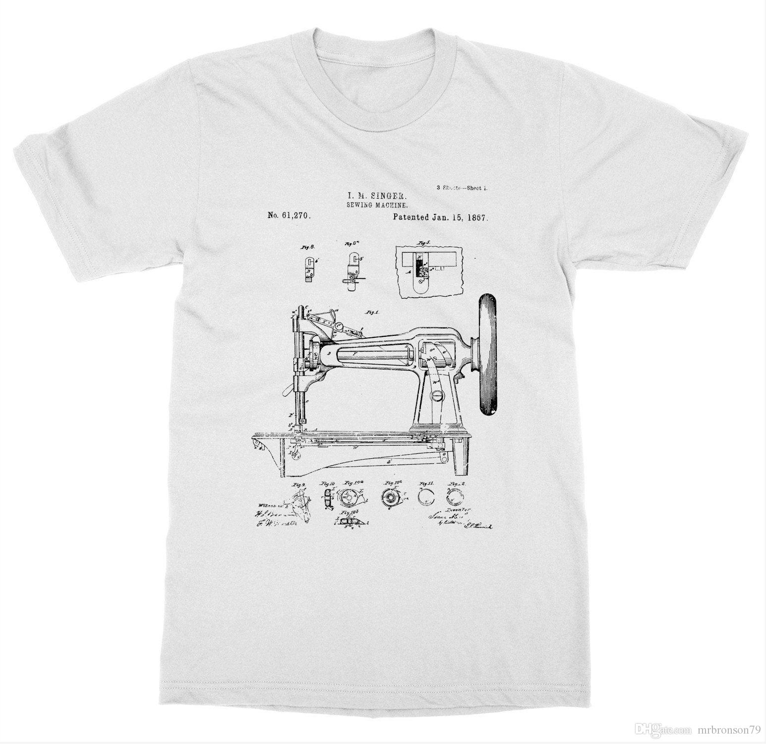 Sewing Machine Patent T Shirt Pattern Singer Diy Invent New Advance
