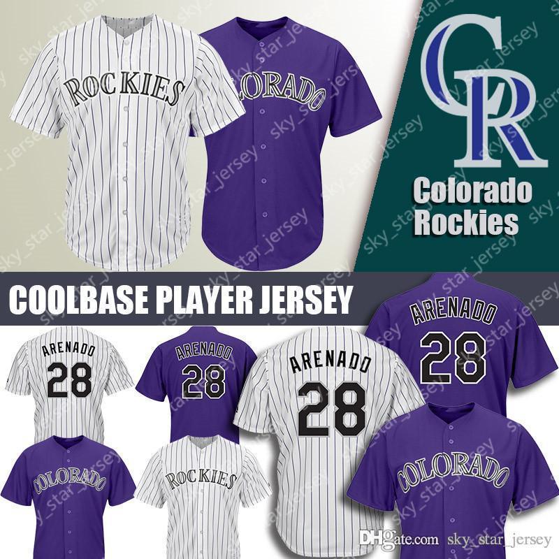big sale 3acfb e3569 Colorado jerseys Rockies Majestic Coolbase jersey 28 Nolan Arenado 2019 new  purple jersey