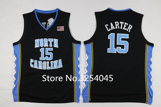 save off 4887f 0f339 New #15 Vince Carter Black North Carolina Tar Heels College Basketball  Jersey All Size vest Jerseys NCAA