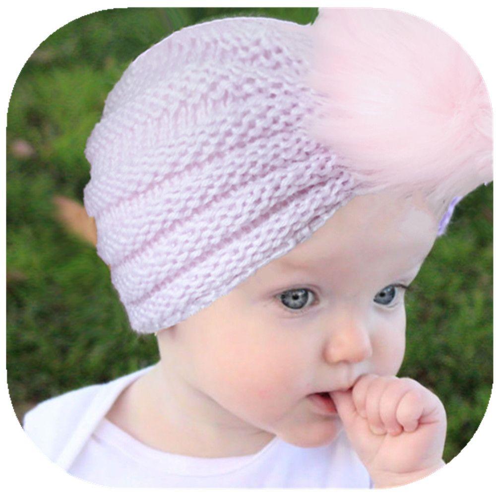 2b5f7c7ec88 2019 Baby Cap Autumn Winter New Knit Hat Children S Warm Wool Hat Ball Kids  Hats From Greatamy