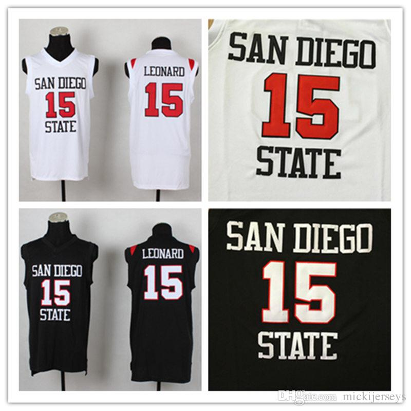 d1d644d74dc6 2019 Mens NCAA San Diego State Aztecs Kawhi Leonard College Basketball  Jersey White Red Black  2 Kawhi Leonard Jersey S 2XL From Mickijerseys