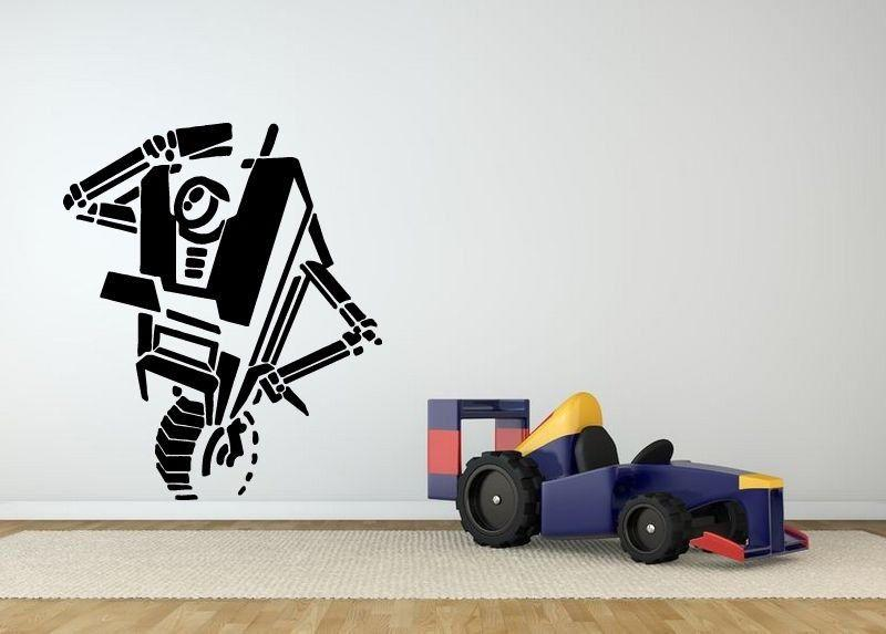 Wall Room Decor Art Vinyl Sticker Mural Decal Video Game Robot Large Wall Art Tattoos