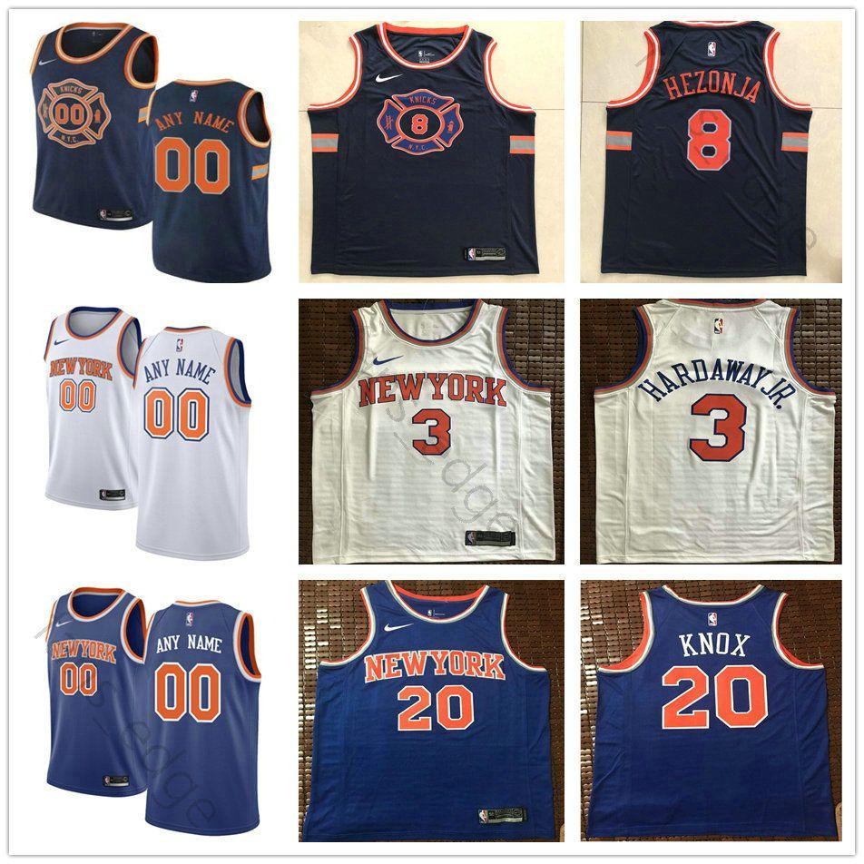 new concept 4fcd4 57a4b Printed Custom New York 21 Damyean Dotson 26 Mitchell Robinson 4 Isaiah  Hicks 14 Allonzo 7 Carmelo Trier Anthony 31 Ron Knicks Baker Jerseys
