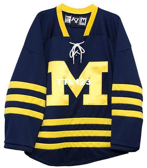 c49b4736f 2019 Real Men Real Full Embroidery University Of Michigan Hockey Jersey  100% Embroidery Jersey Or Custom Any Name Or Number Jersey From Ttl123, ...