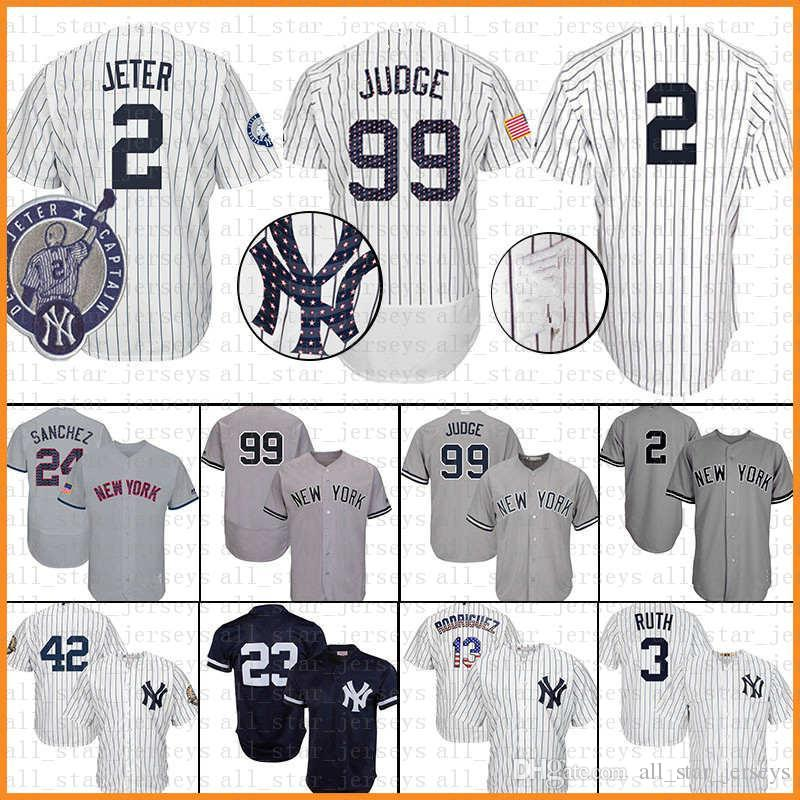 the latest dae5e ee4bf 27 Giancarlo Stanton 3 Babe Ruth 7 Mickey Mantle New York Jersey Yankees 99  Aaron Judge 23 Don Mattingly 24 Gary Sanchez jERSEYS navy