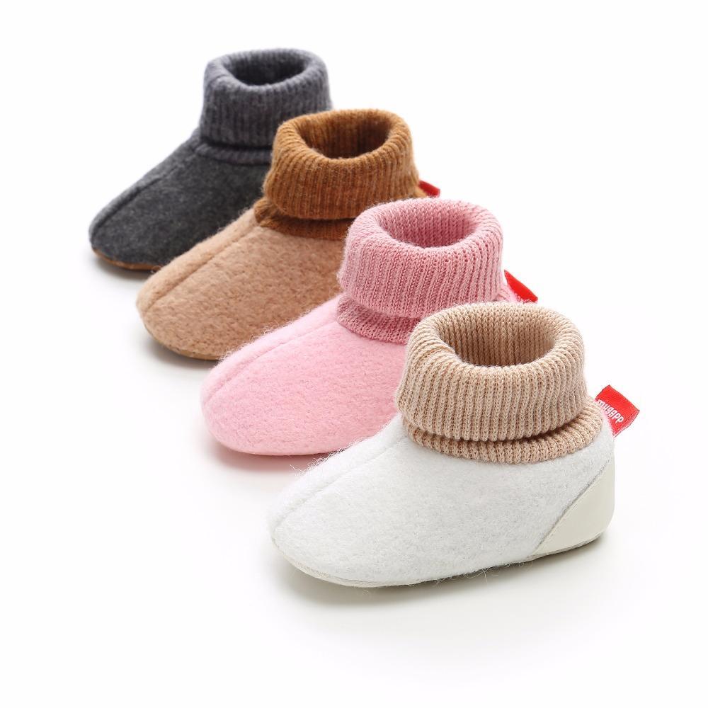 1278fc4f Compre 0 18M Zapatos De Niña De Bebé Botas De Piel De Niño Calientes De  Invierno Zapatos De Niño Recién Nacido Prewalkers Infantiles Blanco Rosa  Suela Suave ...