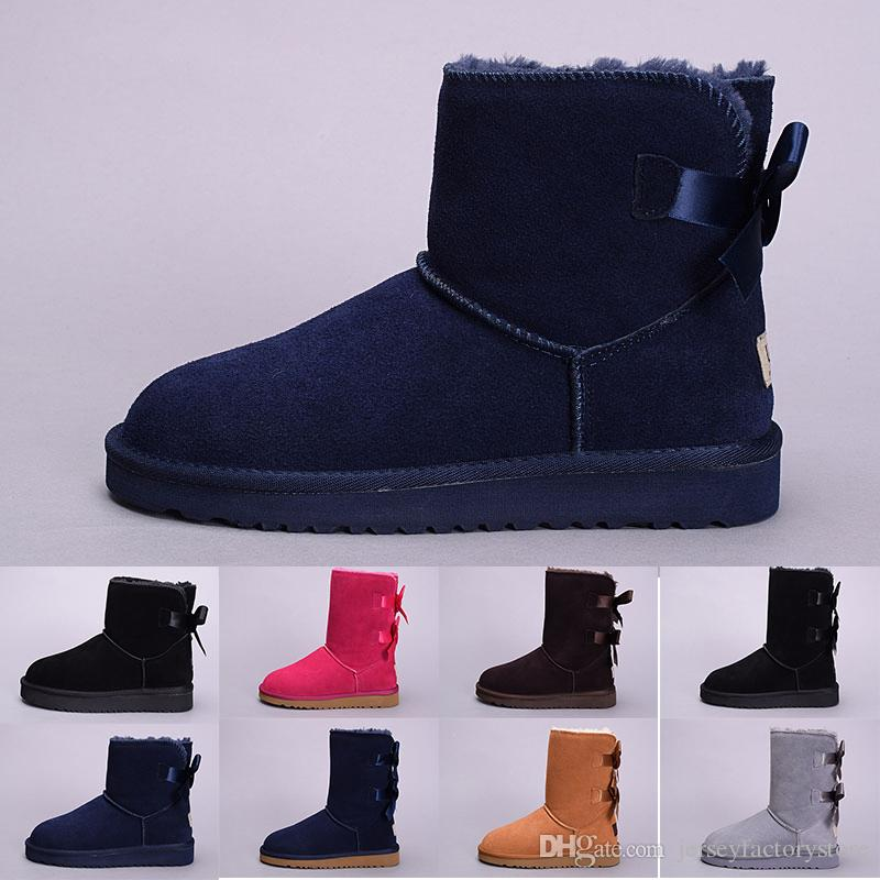 a875de45e8ce 2019 Cheap Winter Australia Classic Snow Boots Good Fashion WGG Tall Boots  Real Leather Bailey Bowknot Women S Bailey Bow Knee Boots Men Sho Boots  Shoes ...