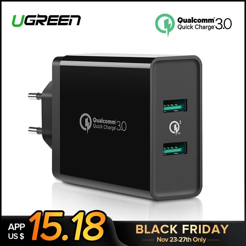 974a6b84473 Protectores De Celulares Ugreen Quick Charge 3.0 36W Cargador USB Para  IPhone X 8 Plus Cargador Rápido QC 3.0 Para Samsung Galaxy S9 Xiaomi Mi 8  Cargador ...