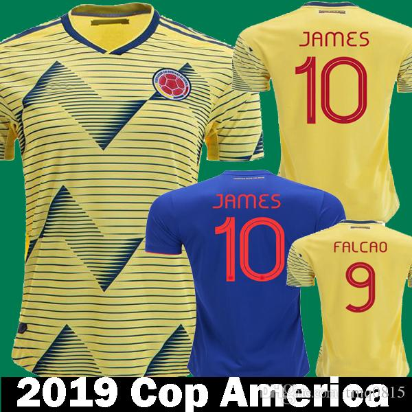 e3ae248d5a1fd 2019 FALCAO JAMES COLOMBIA Camisetas De Fútbol Casa Amarillo 2020 CUADRAD  Colombia AGUILAR Azul Fútbol Camisetas Camisetas 19 20 Copa América Por  Tmq0815