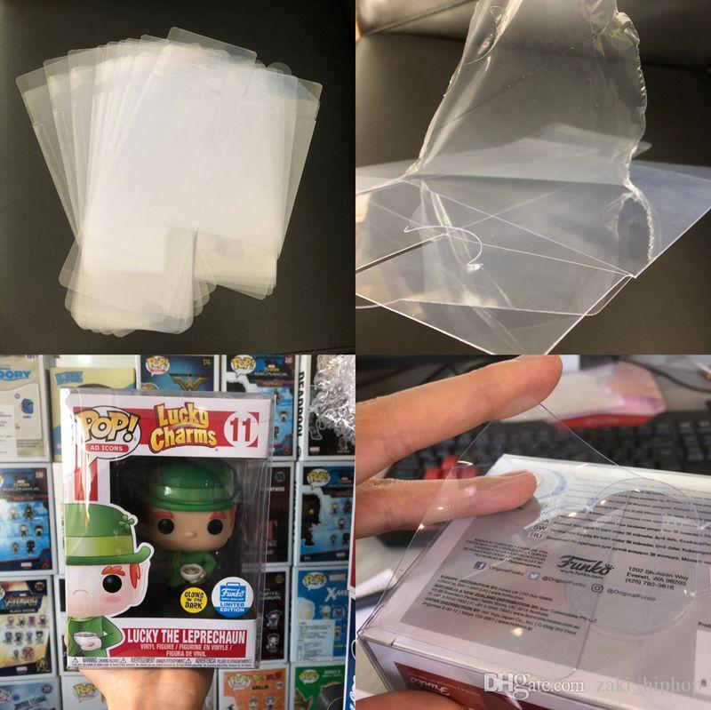 "Protection Case for Funko Pop 3.75"" Non-toxic PVC Funko Pop Protector Crystal Clear Box Protect Plastic With Protective Film No Figure New"
