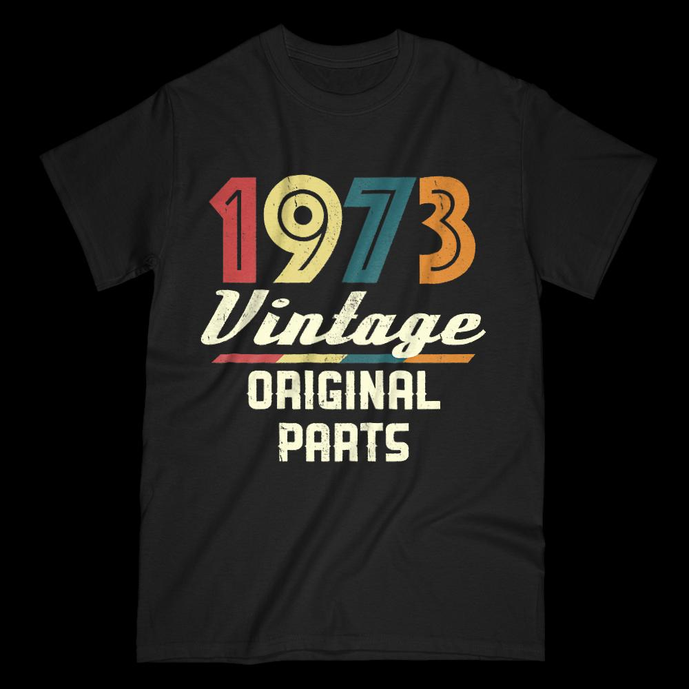 Vintage 1973 Tee 45th Birthday Gift T Shirt Men Turning 45 Funky Tees Hot Cheap Short Sleeve Male Humor Shirts Offensive From Chanelteeshirt