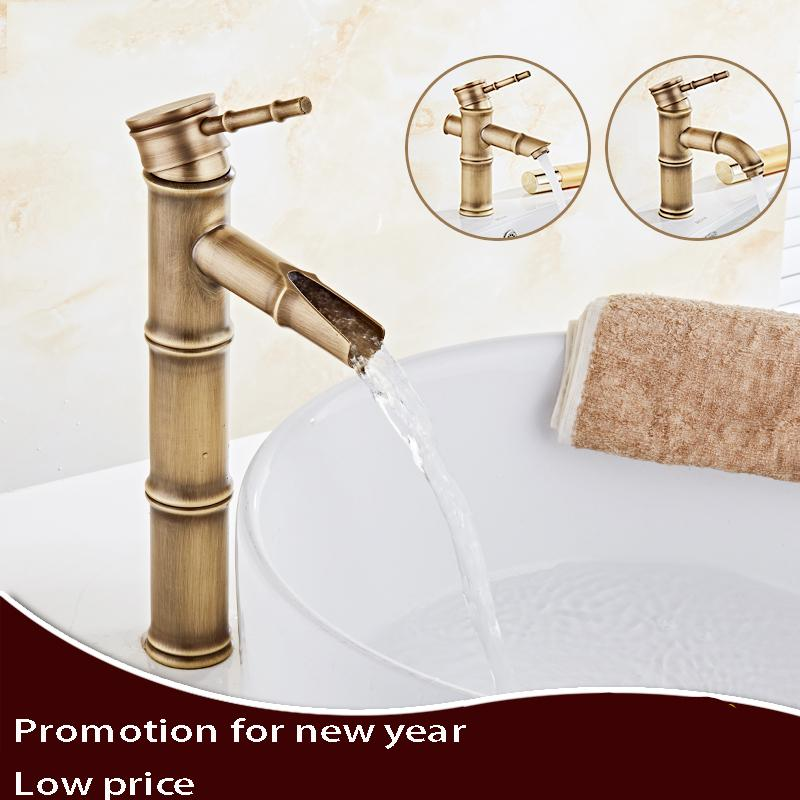 2019 3 Styles Antique Bamboo Bathroom Faucet Antique Bronze Finish