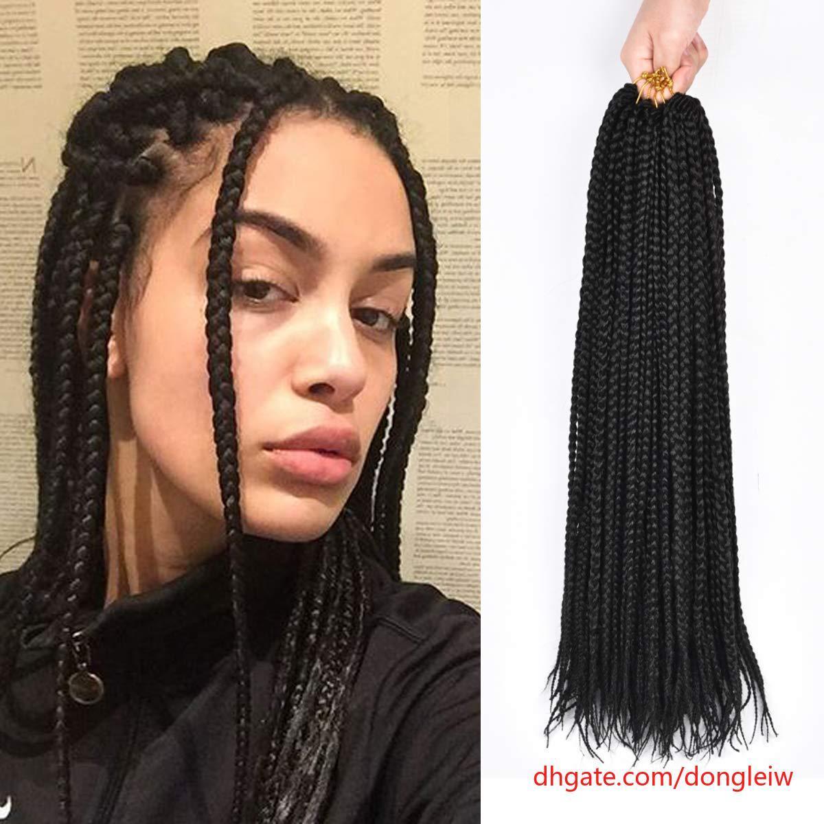 2019 3packs 14 18inch Box Braids Crochet Braids Mambo Twist Braiding