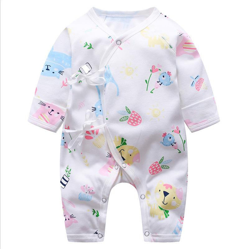 82a3b4278fc2 Good Quality Newborn Girls Rompers Infant Cotton Sleepwear Jumpsuits  Toddler Girls Long Sleeve Pajamas Clothing Girls Rompers Online with   36.43 Piece on ...