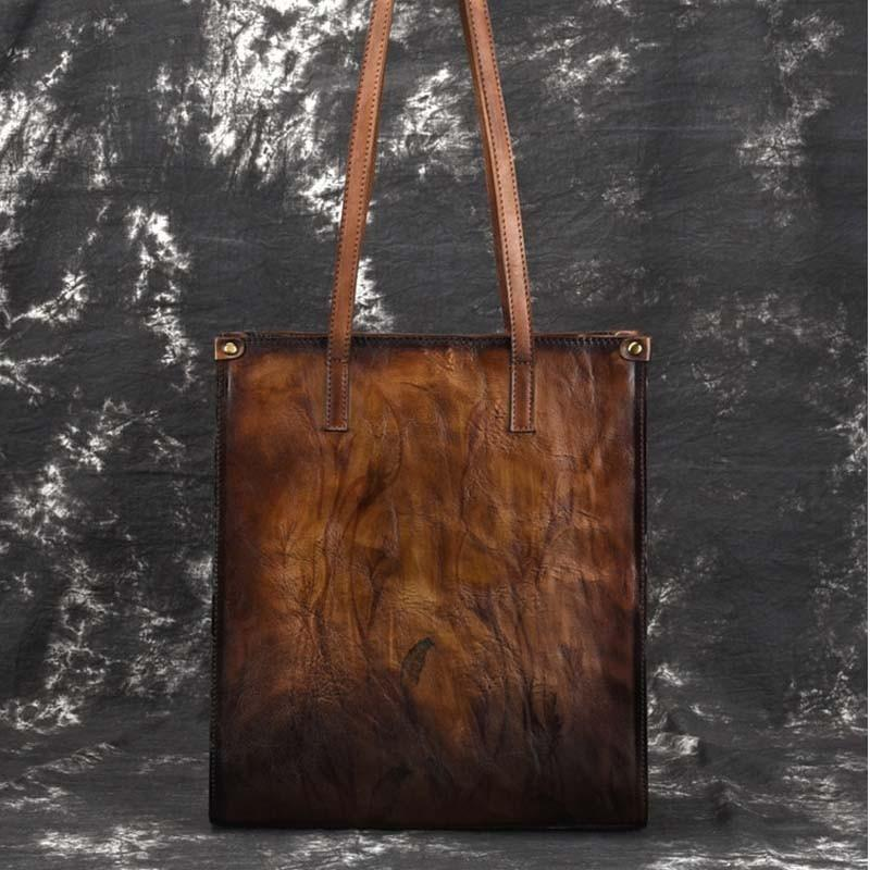 cafd1de279c33 Großhandel Neue Marke Femal Echtes Leder Handtaschen Damen Retro Elegante  Umhängetasche Kuh Leder Handgemachte Hirsch Und Baum Gemälde Taschen Große  Von ...