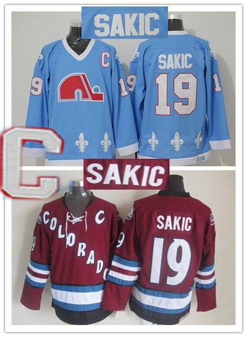 0c3cd4f520a 2019 Mens Quebec Nordiques Vintage 19 Joe Sakic Hockey Jersey Baby Blue  Vintage CCM Colorado Avalanche Joe Sakic Stitched Jersey S XXXL From  Slinesten, ...
