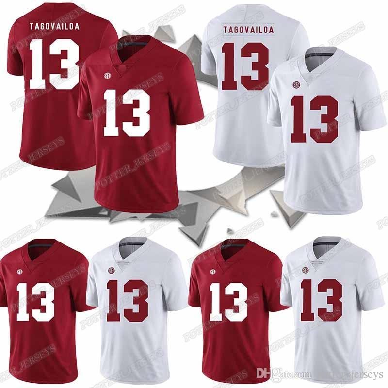 official photos 3e9ef 696bf NCAA Alabama Crimson Tide jersey 13 Tua Tagovailoa Bosa Haskins Jr jerseys  Lawrence Kaepernick. American College Football Wear