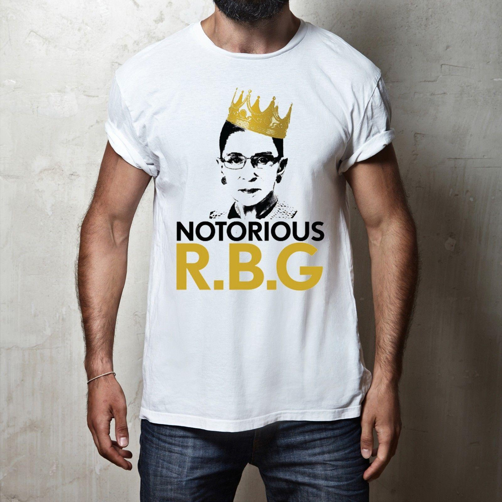 72613bbd Funny Notorious RBG Ruth Bader Ginsburg Men's White T-Shirt Size S-3XL  Men's Clothing T-Shirts Short Sleeve Male