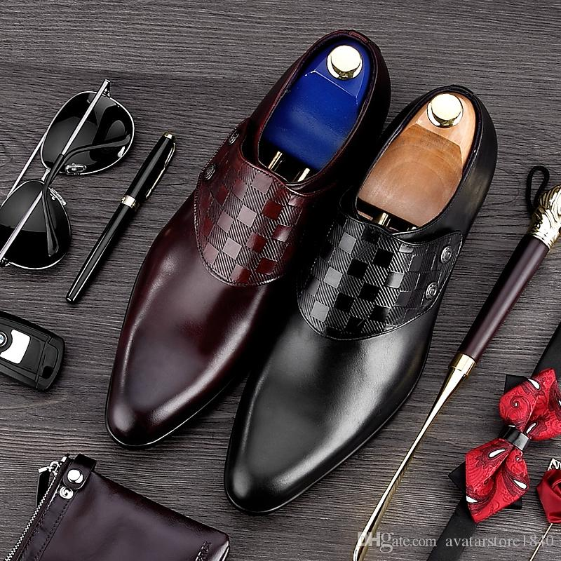 High Quality Handmade Man Monk Shoes Genuine Leather Wedding Oxfords Formal Dress Men's Bridal Office Flats