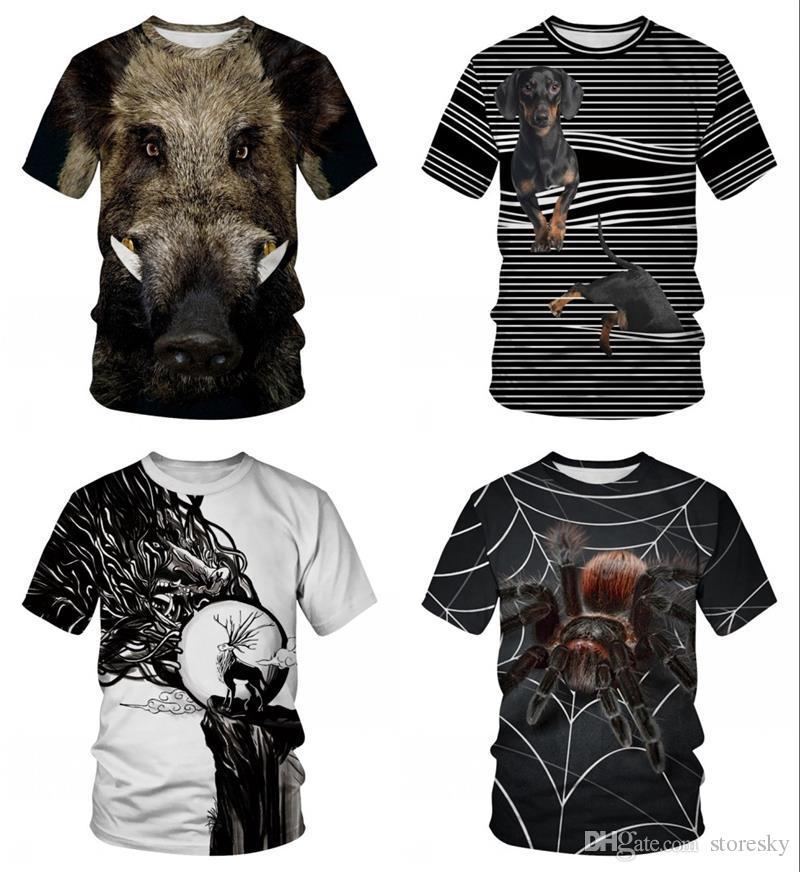 44738b79b Novelty Animal Wild Boar T Shirts Men Women Short Sleeve Tee Shirt Homme  Plus Size Summer Camisetas Hombre Dropship Men T Shirt Women T Shirt  Cartoon T ...