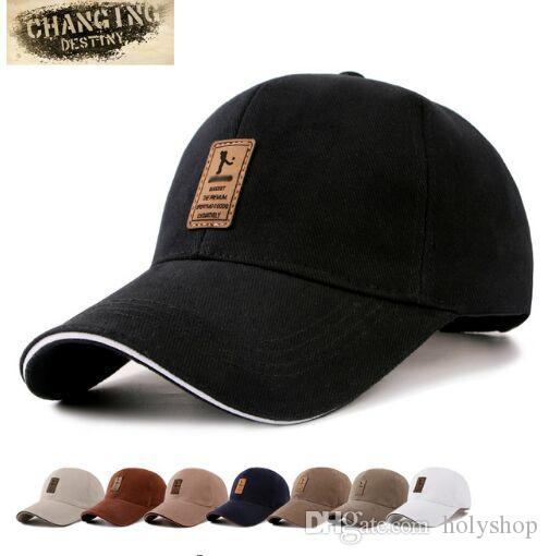 b0a7266005365 Compre 7 Cores Mens Golf Hat Tampas De Basquete Bonés De Algodão Homens Boné  De Beisebol Chapéus Para Homens E Mulheres Letra Cap De Holyshop