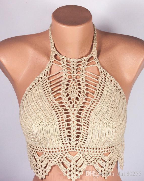 Acquista Bikini Croche Bikini Alluncinetto Top Bikini Donna Top