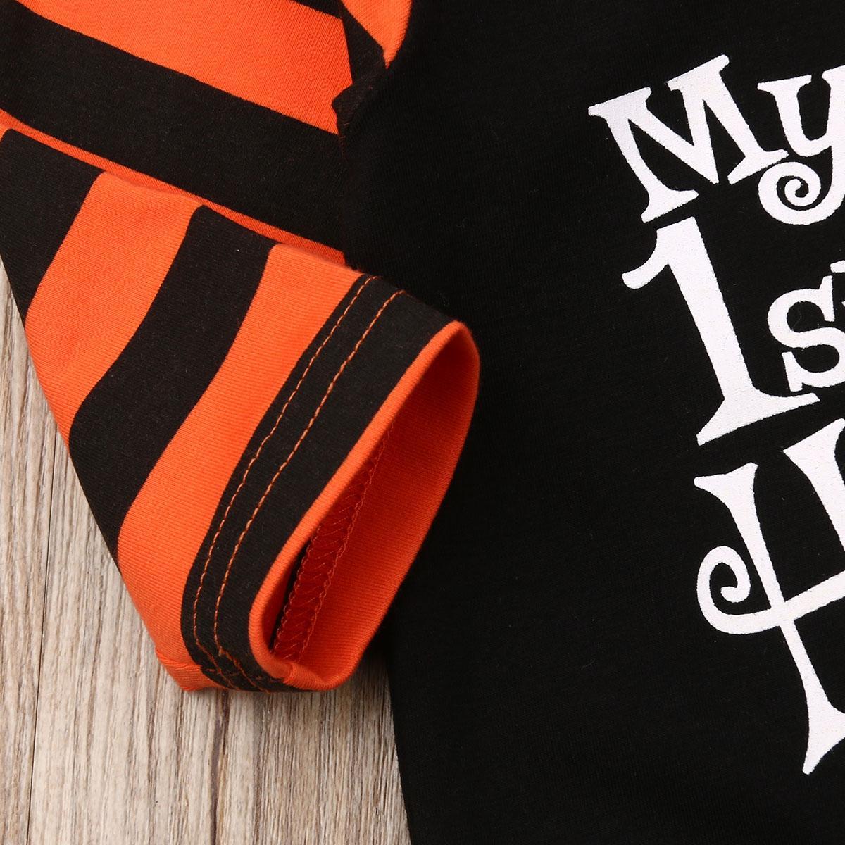 Halloween Neonato Giirls maschi zucca Hood pagliaccetto tuta Outfit Abbigliamento