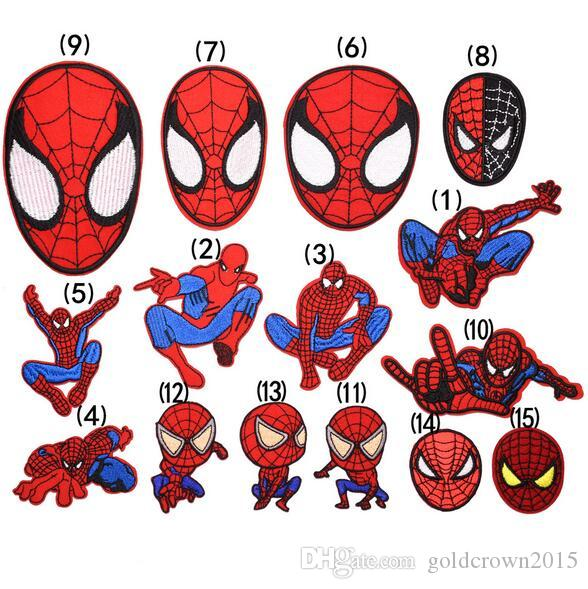8P-56 3D embroidered patch cartoon Spider-Man Iron On Patches for Cloth Guaranteed punk patch sew on patch armband