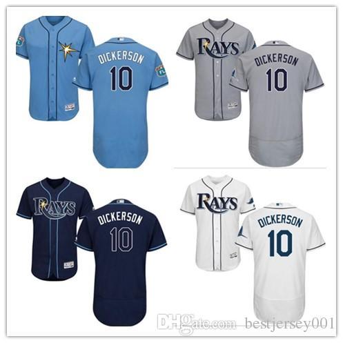 37fc56c8 can custom 2019 Tampa Bay Ray Jerseys #10 Corey Dickerson Jerseys  men#WOMEN#YOUTH#Men s Baseball Jersey Majestic sport wear free ship