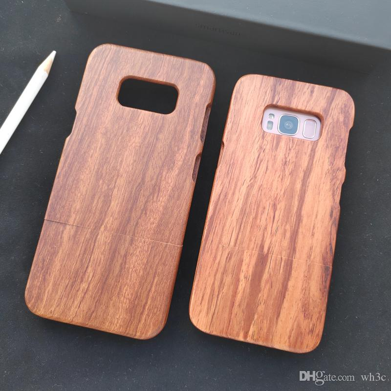 best authentic 0e105 7160e For Samsung Galaxy S8 / S8 Genuine Natural Real Wood Case Rosewood Wooden  Protective Case Cover for Samsung