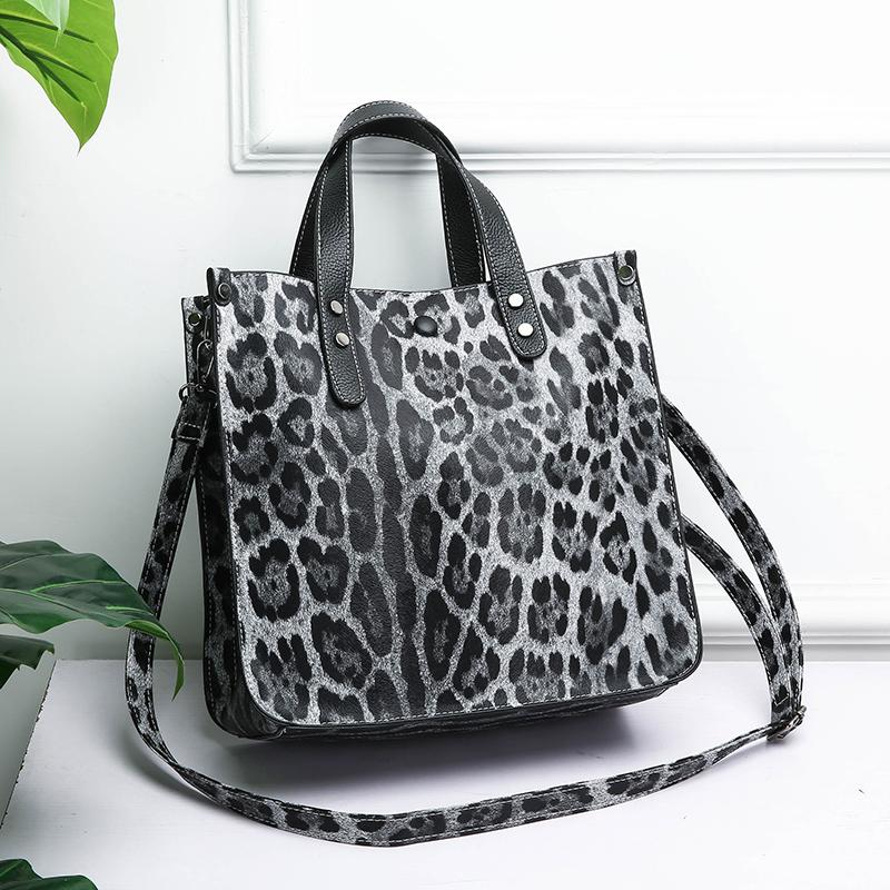2 PCS/SET Classic Style Leopard Shoulder Bags For Women 2019 High capacity Quality Handbags Ladies Hand Bag Female Crossbody Bag