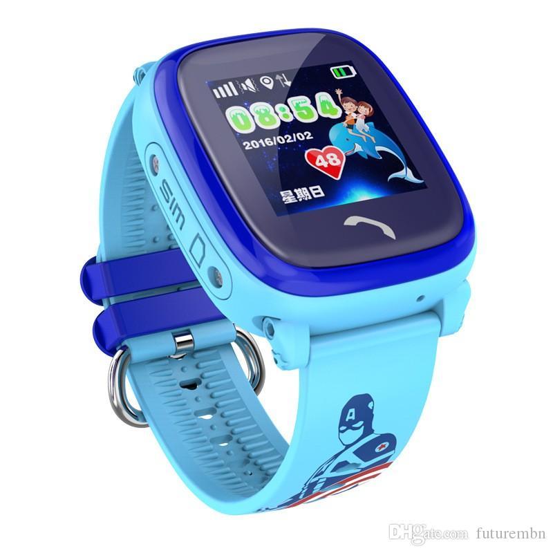 d078a5ecfda9 Celulares Economicos Reloj Inteligente Para Niños DF25 IP67 Teléfono De Nado  A Prueba De Agua Reloj Smartwatch Bebé SOS Ubicación De Llamada De GPS ...