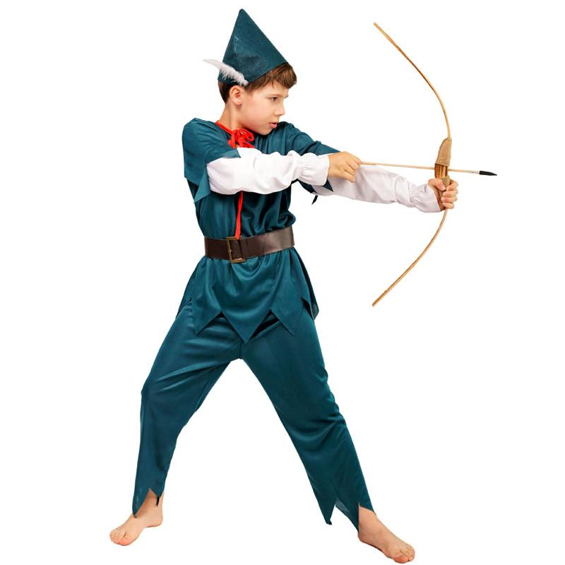New Design Robin Hood Boy Party Costumes Movie Role Cosplay Fancy Suit for Halloween Masquerade Party for Kids