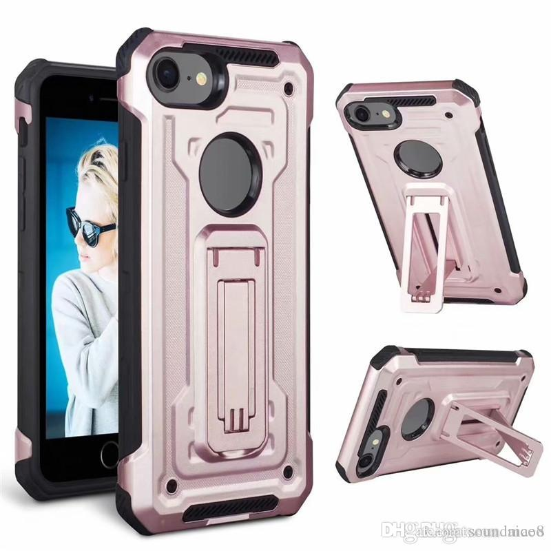 Aicoo Kickstand Armure Case Hybrid Antichoc Couverture Pour Samsung Note 9 S9 iPhone XS MAX XR Samsung S10 A50 Foxxd Miro OPP