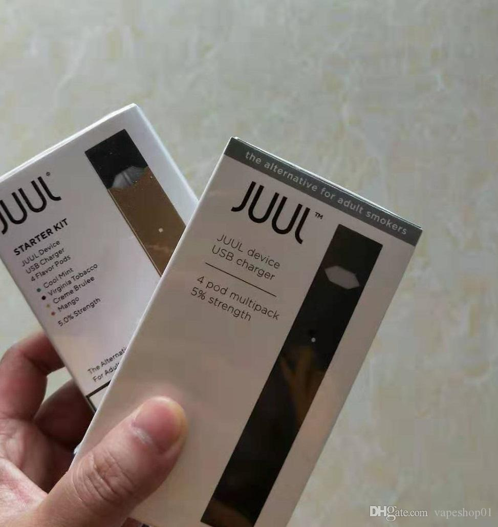 Best Vape Battery 2020 DHL FREE 2020 Newest Juul Starter Kit 250mah Battery With 4 Juul
