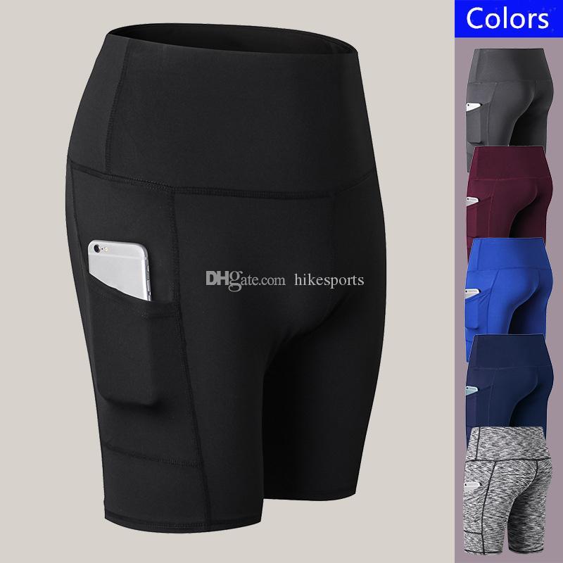 0905162230 Compre Para Mujer Pantalones Cortos De Yoga Compresión Gimnasio Deportes Pantalones  Cortos Bolsillos Laterales Seco Rápido Elástico Tight Pantalones Cortos ...