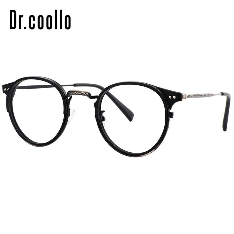 c6ed24bd60 2019 Round Retro Vintage Custom Prescription Eyeglasses Fake Glasses Frames  Optical Computer Eyewear Reading Spectacle Frames From Marquesechriss