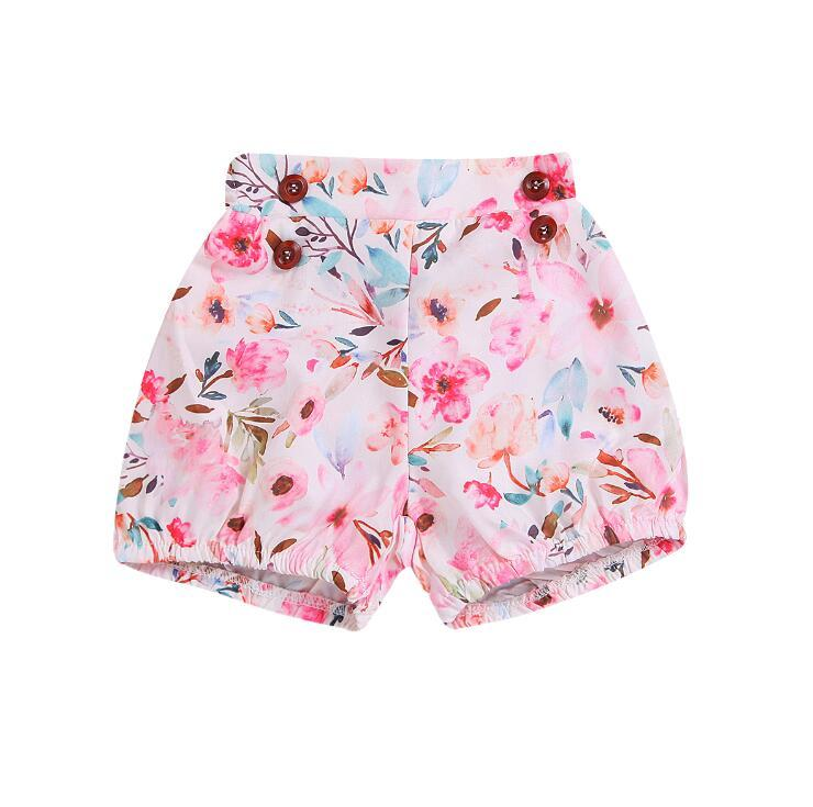 82e201c1aa 2019 Summer Kids Clothing New Floral Printed Baby Girl Shorts Infant Flower  Hot Pants Kids Designer Clothes Toddler Casual Shorts Y1321 Shorts Girls  Denim ...