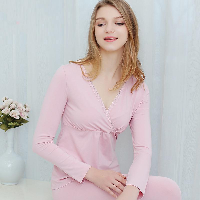a2415f70550f9 2019 Pregnancy Nighty Maternity Pajamas For Pregnant Women Nursing  Sleepwear Breastfeeding Nightgown Feeding Nightwear Modal SuitJ865 From  Sunmye, ...