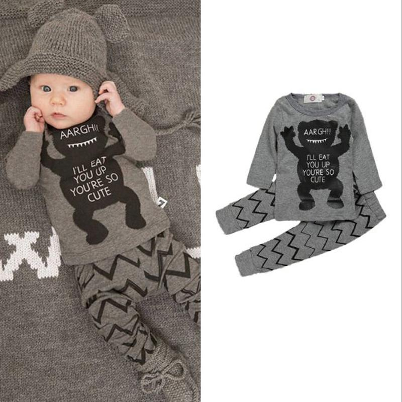 d3d2fed63a9 2019 Retail 2018 Full Style Children S Clothing Thicken Kit Red Fox Full  Sleeve+Pants Baby Boys Clothing Y18120801 From Shenping02
