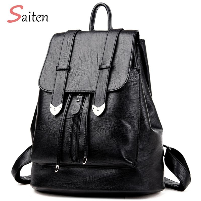 High Quality Leather Bags Women Backpacks Preppy Style School Bag For Teenage  Girls Large Capacity Travel Bags Bolsa Mochila Y18110202 Mesh Backpack  Justice ... 24693444216d3