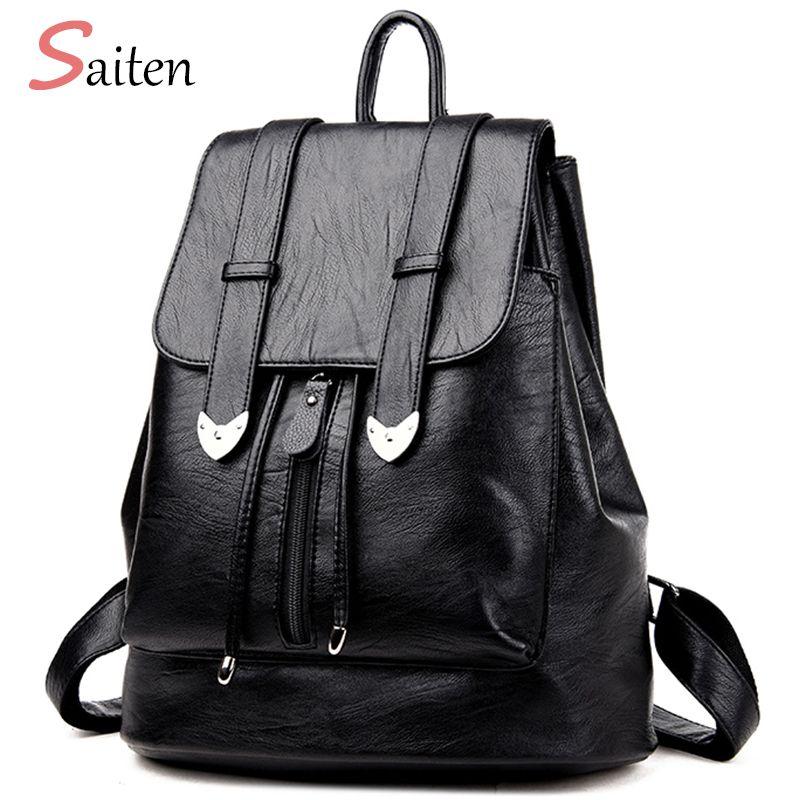 eb93e05bfa High Quality Leather Bags Women Backpacks Preppy Style School Bag For  Teenage Girls Large Capacity Travel Bags Bolsa Mochila Y18110202 Mesh  Backpack Justice ...