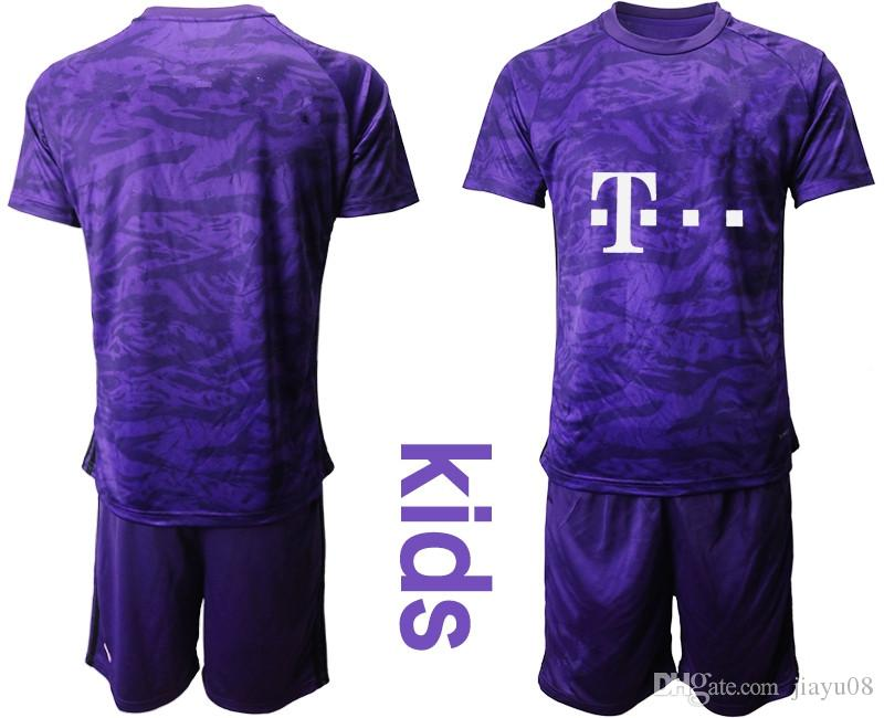 competitive price 196e0 2ac0f 1920 Kids Bayern Munich Youth Goalkeeper GK Goalie Soccer Jersey 2019 2020  Manuel Neuer Sven Ulreich Oliver Football Shirt Uniform baire