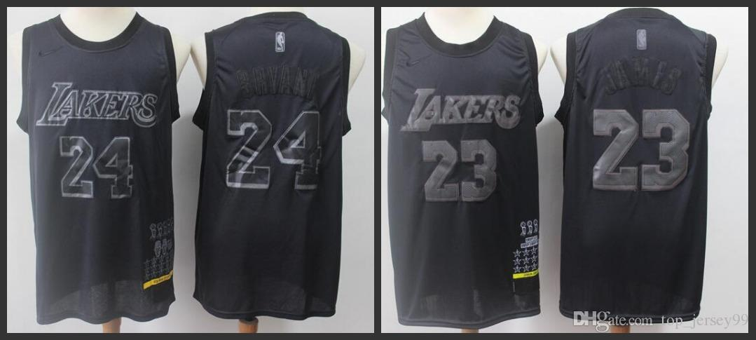save off e8c98 12e2d 2019 Season Los Angeles Men Laker MVP Jersey LeBron James Kobe Bryant Black  Honorary Edition Jerseys Free shipping