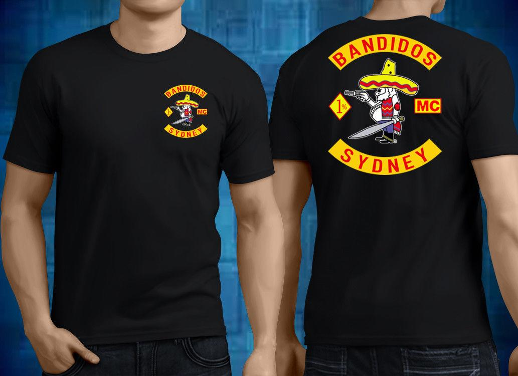 SYDNEY BANDIDOS MC T Shirt Black Motorcycle Club Gang Mens Tee - Size M-2XL  Fashion Summer Top Tee Tees Chinese Style Reasonable