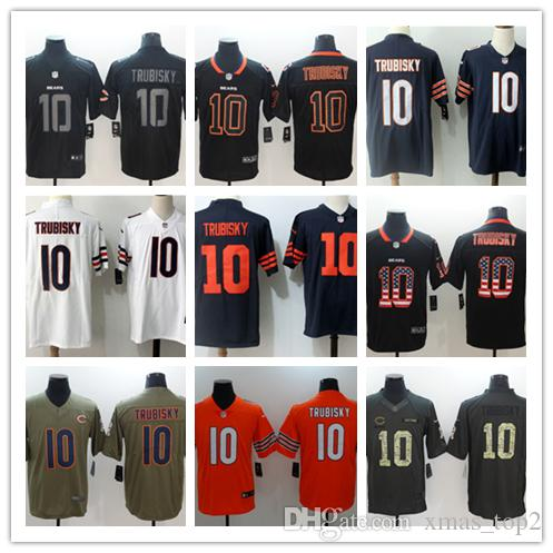 wholesale dealer 5b2ff c21f8 2019 Mens 10 Mitchell Trubisky Chicago Bears Football Jersey 100% Stitched  Embroidery Bears Mitchell Trubisky 34 Color Rush Football Shirts