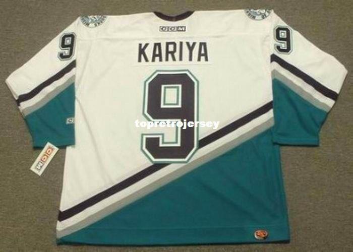 more photos 3496c a6601 Wholesale Mens PAUL KARIYA Anaheim Mighty Ducks 2003 CCM Home Cheap Retro  Hockey Jersey