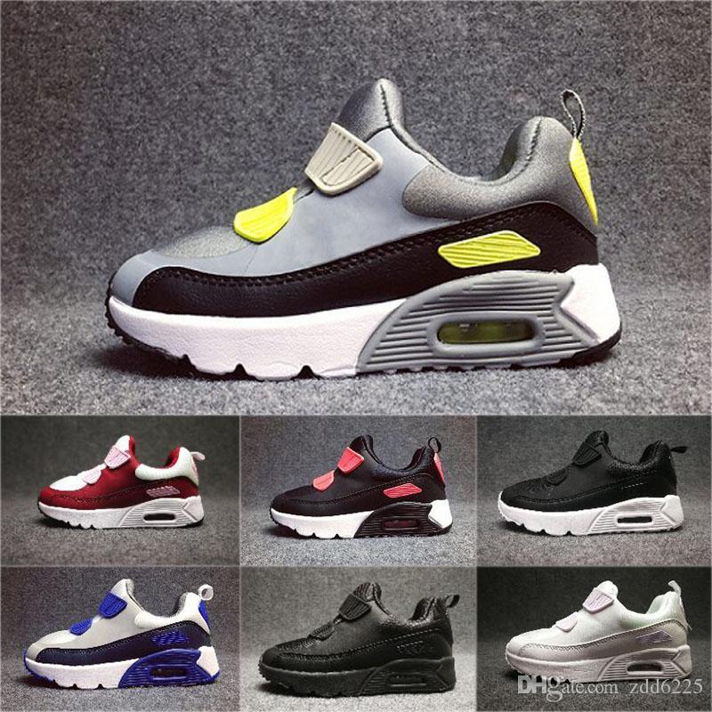 3ac550b365917 Acheter Nike Air Max 90 Designer Nouvelle Marque Enfants Chaussures Bébé  Tout Petit Des Années 90 Classique 90 Enfants Garçon Et Gril Sport Sneaker  ...